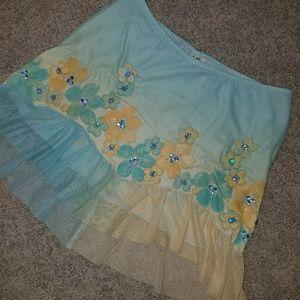 Handpainted mini skirt